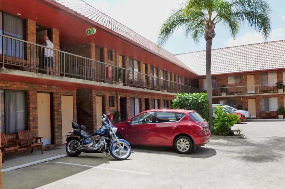 On-site parking is available at Royal Palms Motor Inn Coffs Harbour NSW.